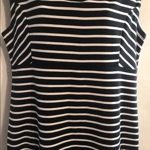 attention Dresses - Attention Striped Black and White Dress